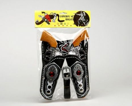 Western Cowboy Pistols & Leather Holster Texas Confedirate Wild West Cowboy